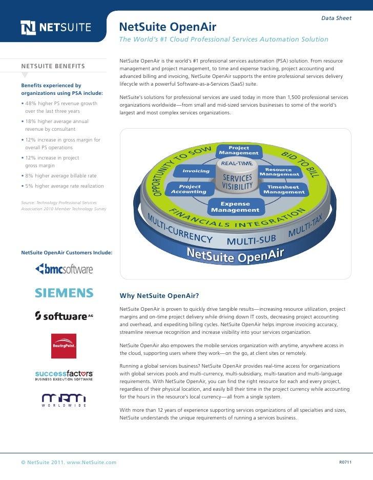 Data Sheet                                            NetSuite OpenAir                                            The Worl...