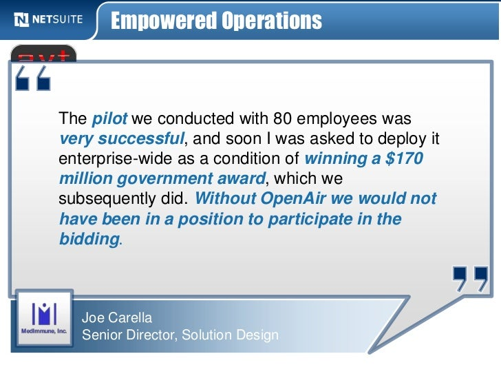 Empowered OperationsThe pilot we conducted with 80 employees wasvery successful, and soon I was asked to deploy itenterpri...
