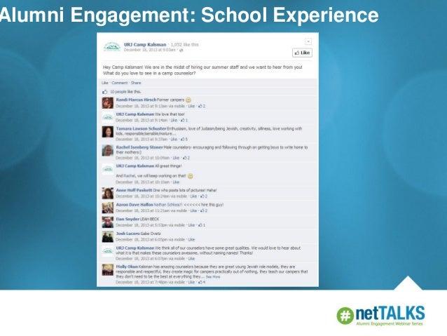 Alumni Engagement: School Experience