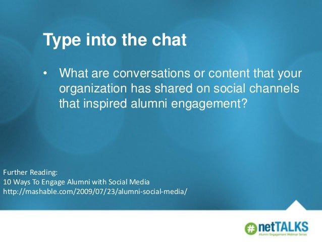 Type into the chat • What are conversations or content that your organization has shared on social channels that inspired ...