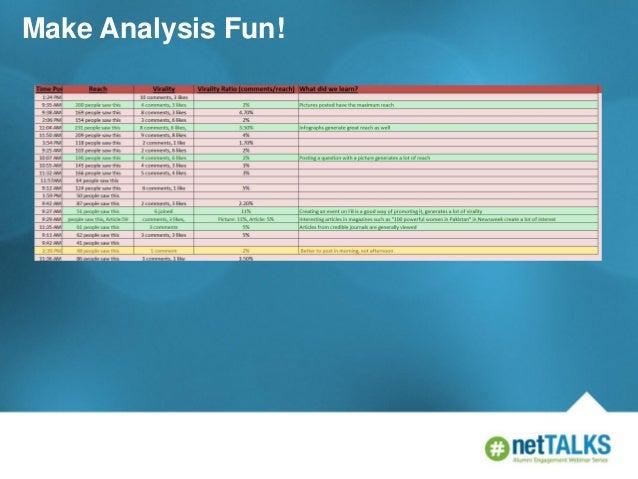 Make Analysis Fun!