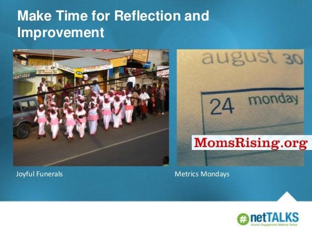 Make Time for Reflection and Improvement  Joyful Funerals  Metrics Mondays