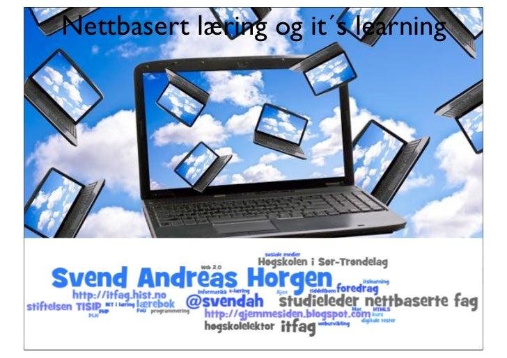 Nettbasert læring og it´s learning