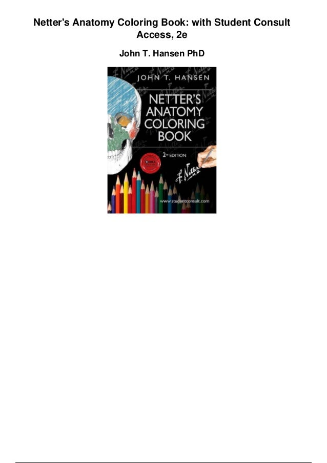 netters anatomy coloring book with student consult access 2e pdf - Netters Anatomy Coloring Book