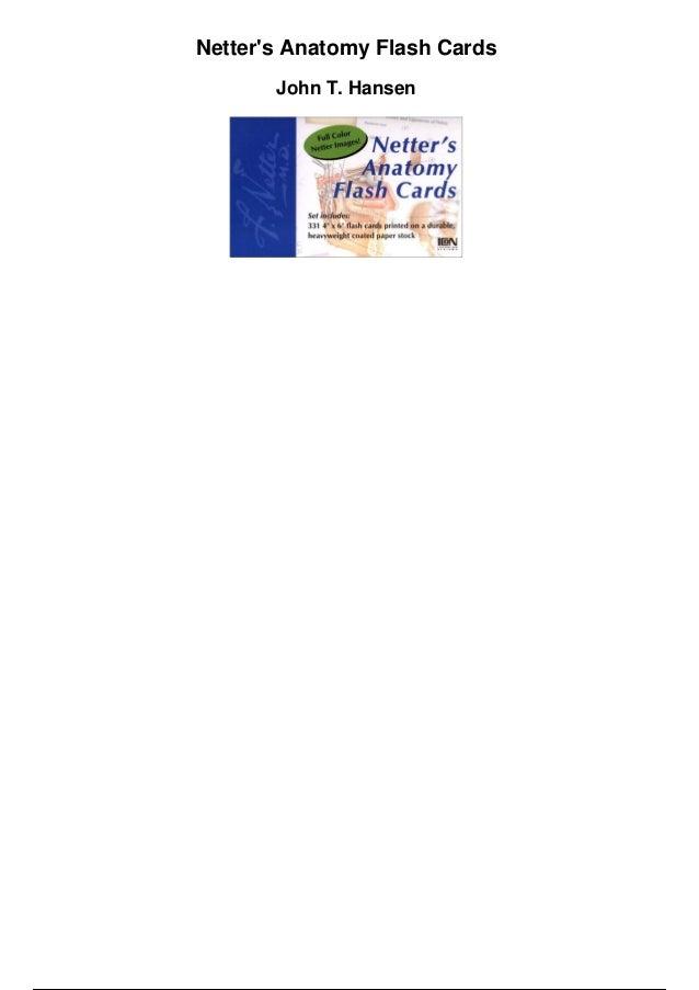 Netter S Anatomy Flash Cards Pdf Dolapgnetband