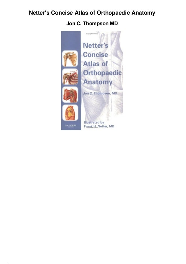 Netters concise atlas of orthopaedic anatomy pdf