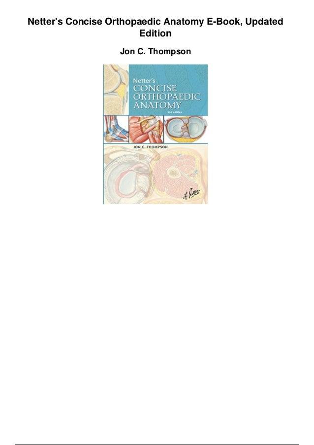 Netters Concise Orthopaedic Anatomy Pdf