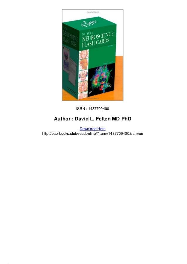 Netters neuroscience flash cards 2e pdf