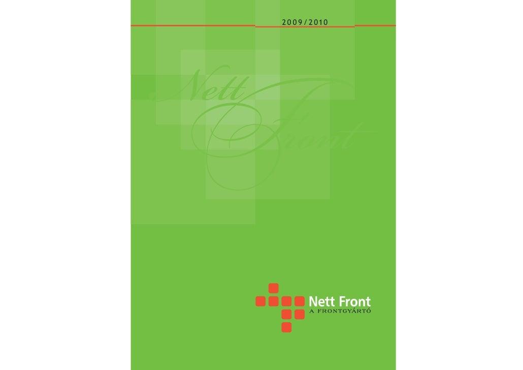 2 0 0 9 / 2 0 10     Nett  Front