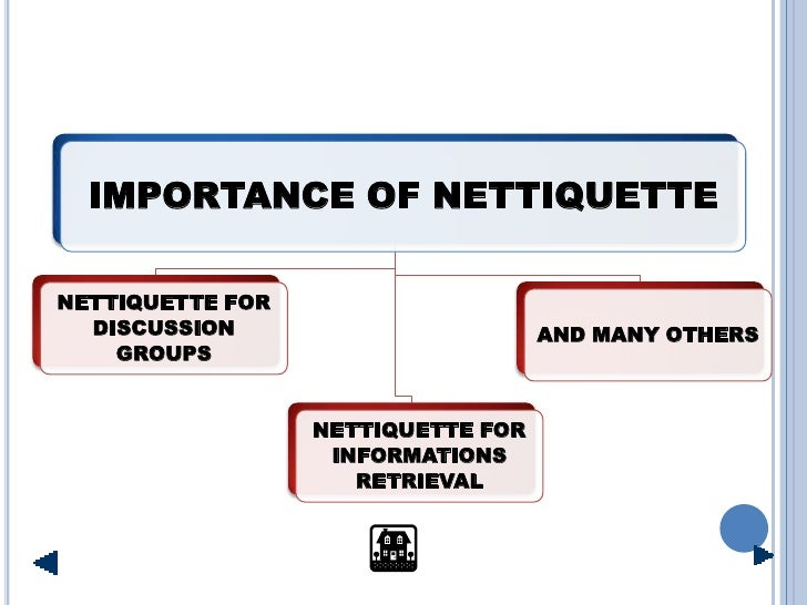 IMPORTANCE OF NETTIQUETTE  NETTIQUETTE FOR   DISCUSSION                        AND MANY OTHERS     GROUPS                 ...