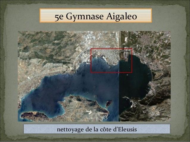 nettoyage de la côte d'Eleusis 5e Gymnase Aigaleo