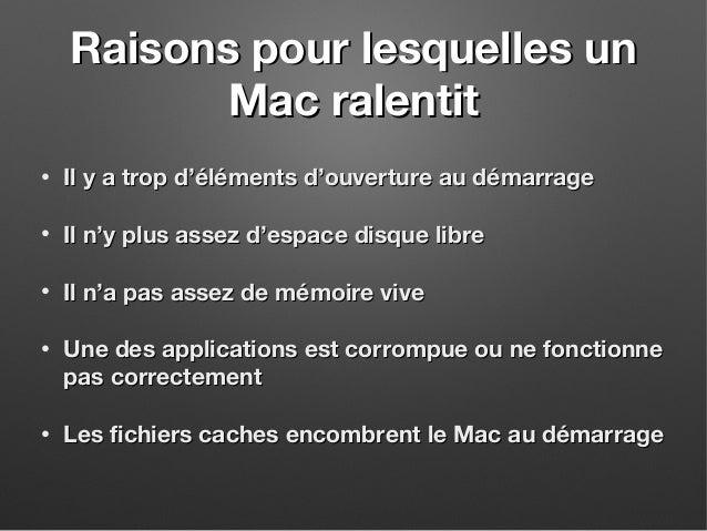 Comment Nettoyer un Mac et Regagner de la Vitesse Slide 2