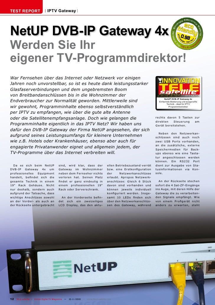 TEST REPORT                   IPTV GatewayNetUP DVB-IP Gateway 4x                                                         ...