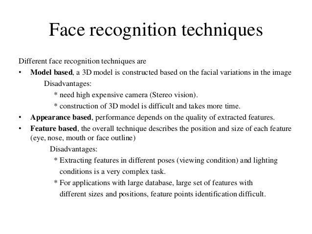 Facial recignition techniques