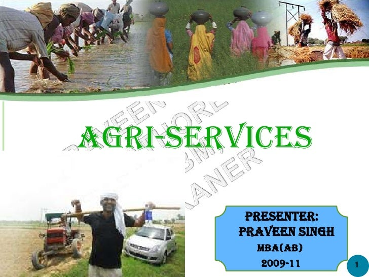 Agri-Services <br />            Presenter: <br />          Praveen Singh<br />MBA(AB)<br />2009-11<br />1<br />
