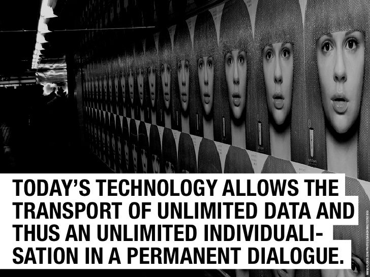 TODAY'S TECHNOLOGY ALLOWS THE TRANSPORT OF UNLIMITED DATA AND                                       WWW.FLICKR.COM/PHOTOS/...