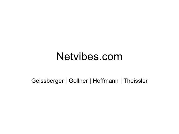 Netvibes.com Geissberger | Gollner | Hoffmann | Theissler