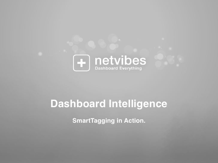 Dashboard Intelligence     SmartTagging in Action.