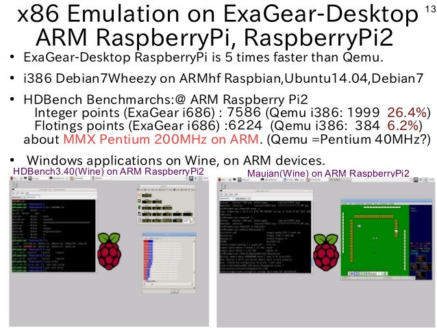 x86 Emulation on ARM devices, and Wine on ARMhf ExaGear-Desktop