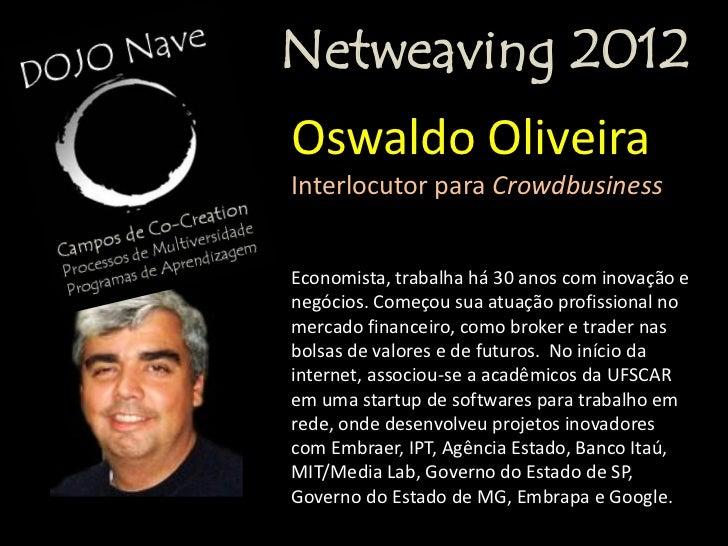 20 de agosto de 2012                 Netweaving 2012                  REDES SOCIAIS E EMPRESASPROGRAMA Módulo 108h30-10h30...