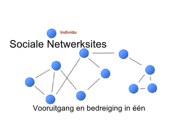 Sociale Netwerksites Vooruitgang en bedreiging in  éé n  Individu