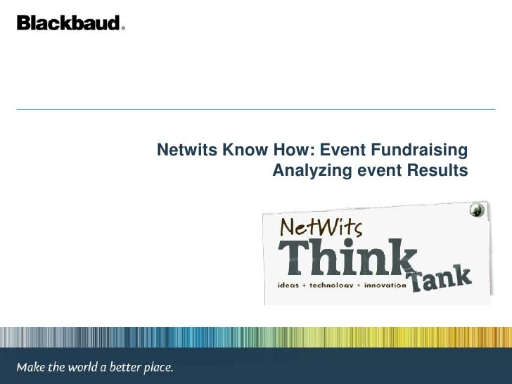 Netwits Know How: Event Fundraising Analyzing event Results<br />