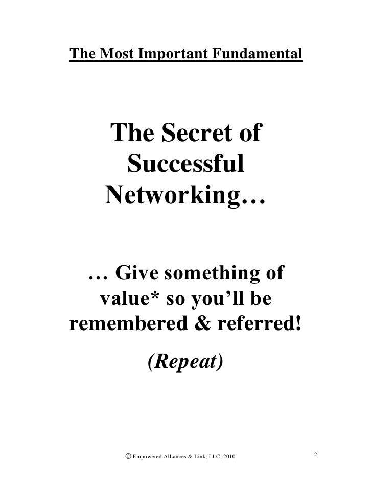 Secrets of Networking Strategy & Skills
