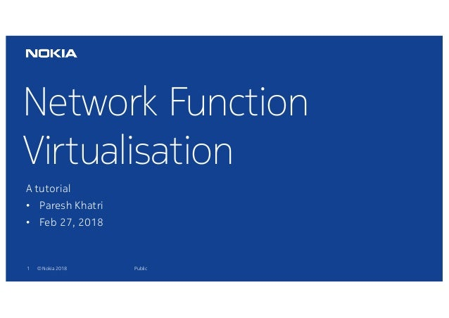 Network Function Virtualisation: a tutorial