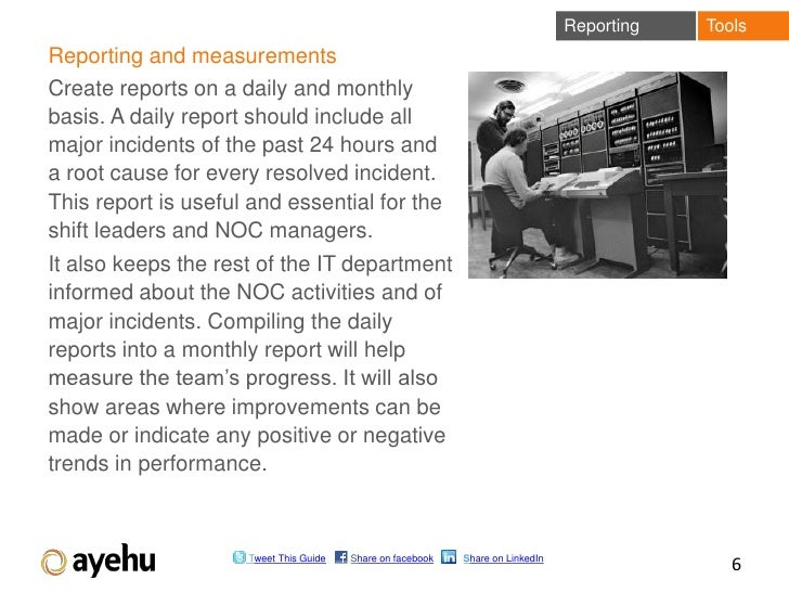 Reporting   ToolsReporting and measurementsCreate reports on a daily and monthlybasis. A daily report should include allma...