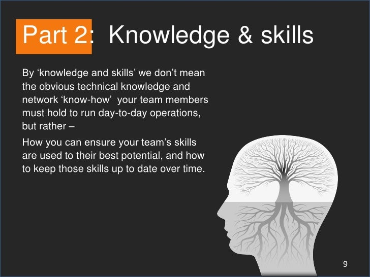 Part 2: Knowledge & skillsBy 'knowledge and skills' we don't meanthe obvious technical knowledge andnetwork 'know-how' you...
