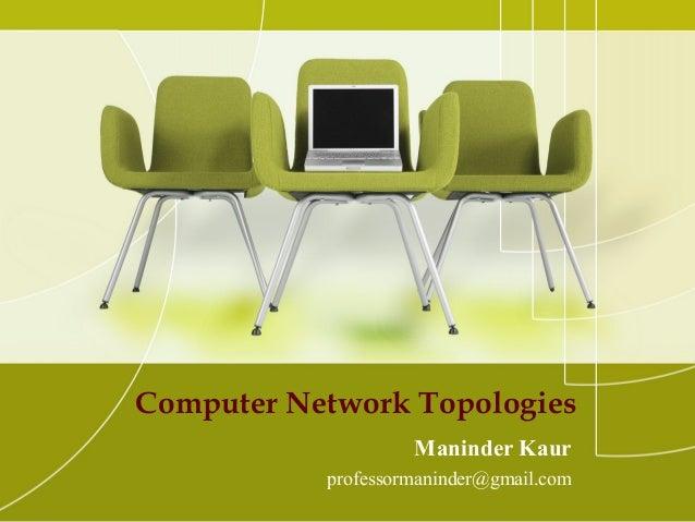 Computer Network Topologies Maninder Kaur professormaninder@gmail.com
