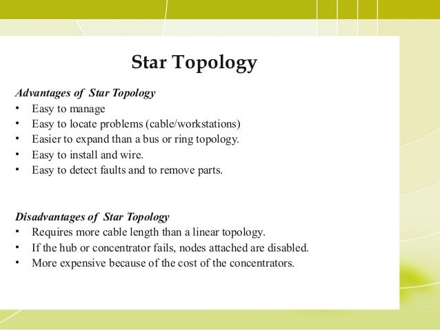tree topology advantages and disadvantages Cable seems like a main stem of a tree, and other star networks as the branches  it is also called expanded star topology ethernet protocol is commonly used in.