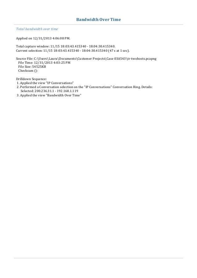 sample network analysis report based on wireshark analysis figure 1 ip conversations 5