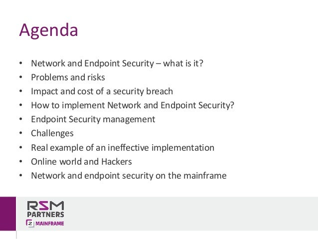 Network and Endpoint Security v1.0 (2017) Slide 2