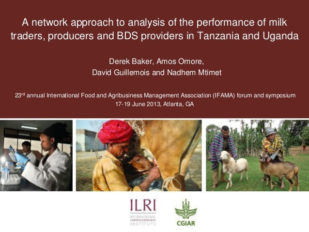 A network approach to analysis of the performance of milk traders, producers and BDS providers in Tanzania and Uganda Dere...