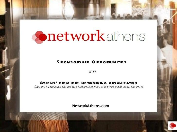<ul><li> Athens' premiere networking organization  </li></ul><ul><li>Creating an inclusive and fun way for local busines...