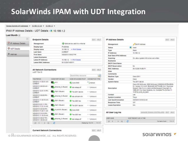 Network complexity with SolarWinds NPM and IPAM