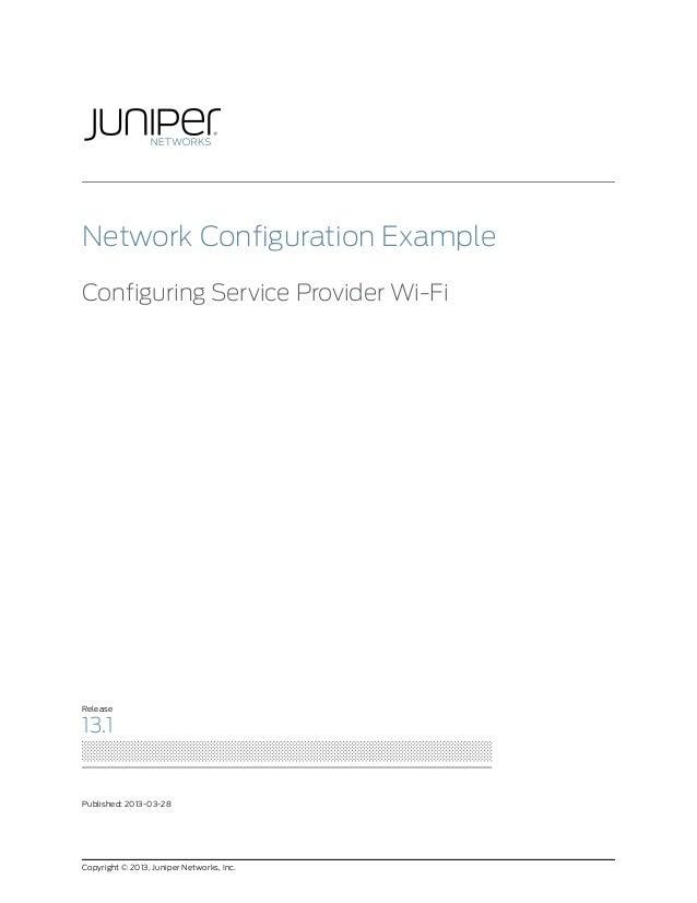 Network Configuration Example: Configuring Service Provider Wi-Fi