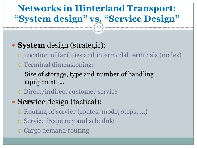 network designs for improved hinterland transport