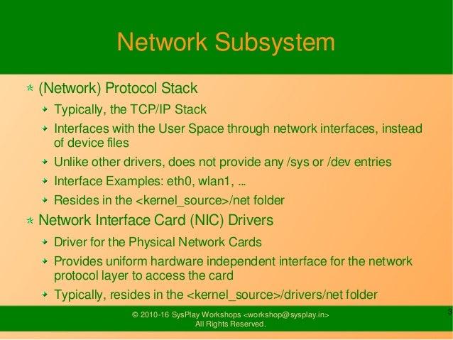 Network Drivers Slide 3