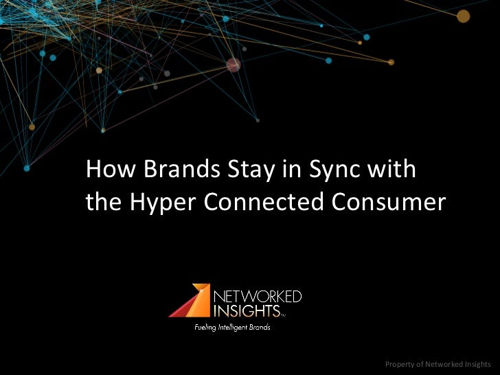 How(Brands(Stay(in(Sync(with(the(Hyper(Connected(Consumer(                       Property(of(Networked(Insights(