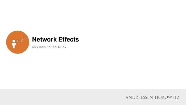 Network Effects A N U H A R I H A R A N E T A L