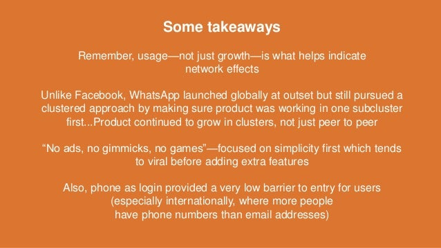 Some takeaways Remember, usage—not just