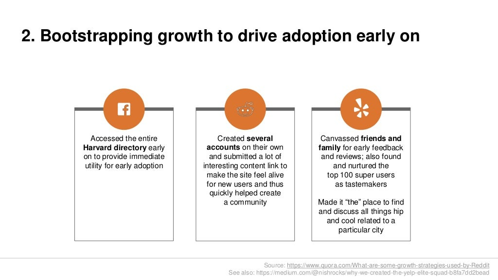 2  Bootstrapping growth to drive