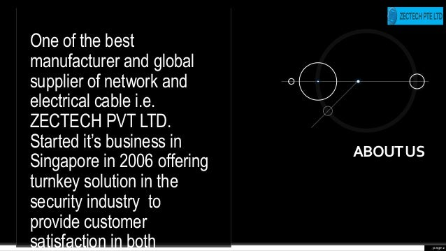 page 2 One of the best manufacturer and global supplier of network and electrical cable i.e. ZECTECH PVT LTD. Started it's...