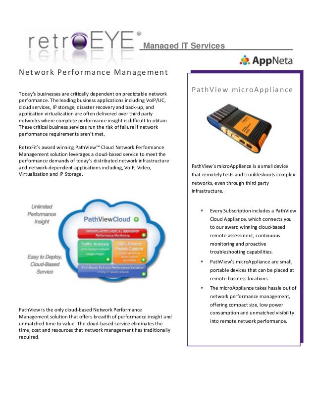 Network Performance Management Today's businesses ...