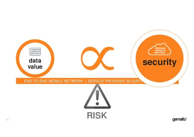 data value 12 RISK END-TO-END MOBILE NETWORK + SERVICE PROVIDER SECURITY FRAMEWORK security