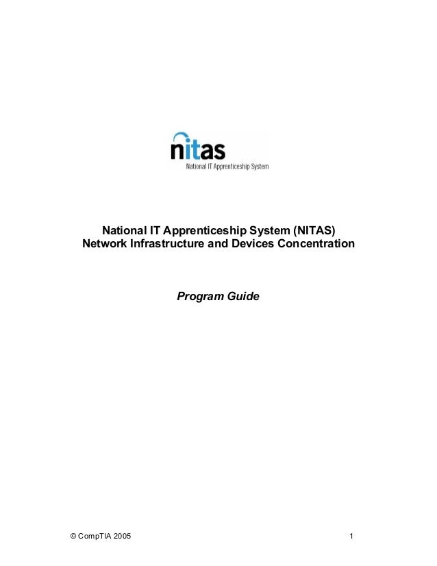 National IT Apprenticeship System (NITAS) Network Infrastructure and Devices Concentration Program Guide © CompTIA 2005 1