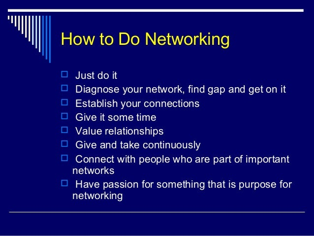 Image result for networking how to