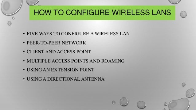WLAN of networking ppt